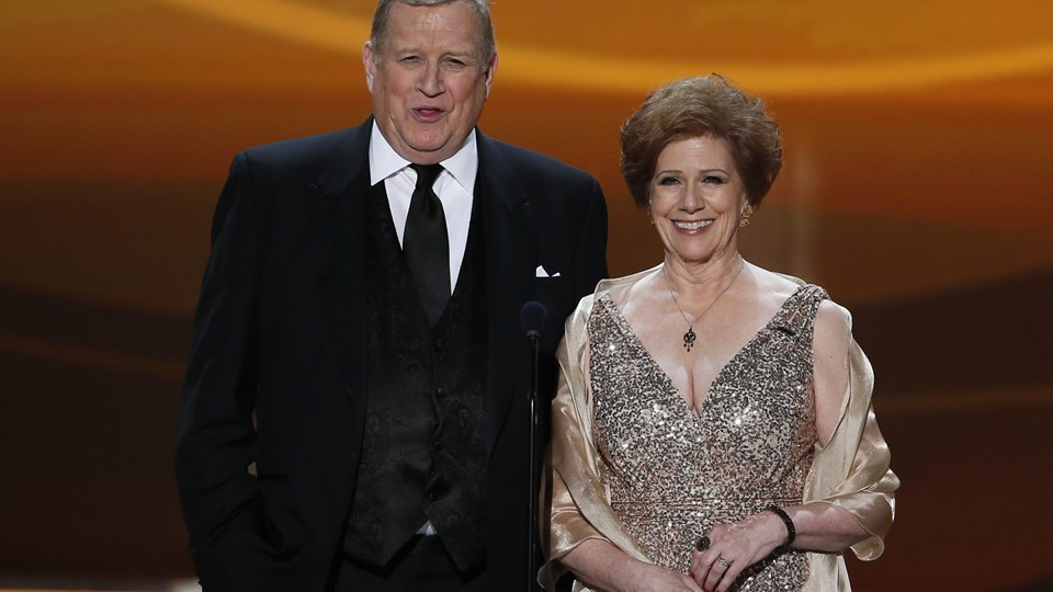 SAG-AFTRA presidents Howard and Reardon greet their members at the 19th annual Screen Actors Guild Awards in Los Angeles Foto: Reuters/Lucy Nicholson