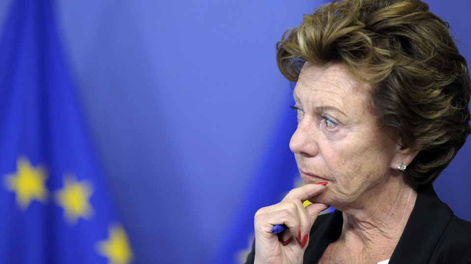 EU telecoms commissioner Kroes attends a news conference in Brussels Foto: Reuters/Laurent Dubrule