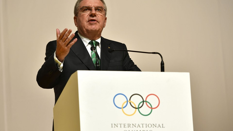 IOC President Bach speaks at Olympic Commitee session in Rio de Janeiro Foto: Reuters/Pool