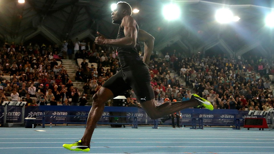 Jamaica''s Olympic champion Usain Bolt runs during the final night of the Nitro Athletics series at the Lakeside Stadium in Melbourne Foto: Reuters/Hamish Blair