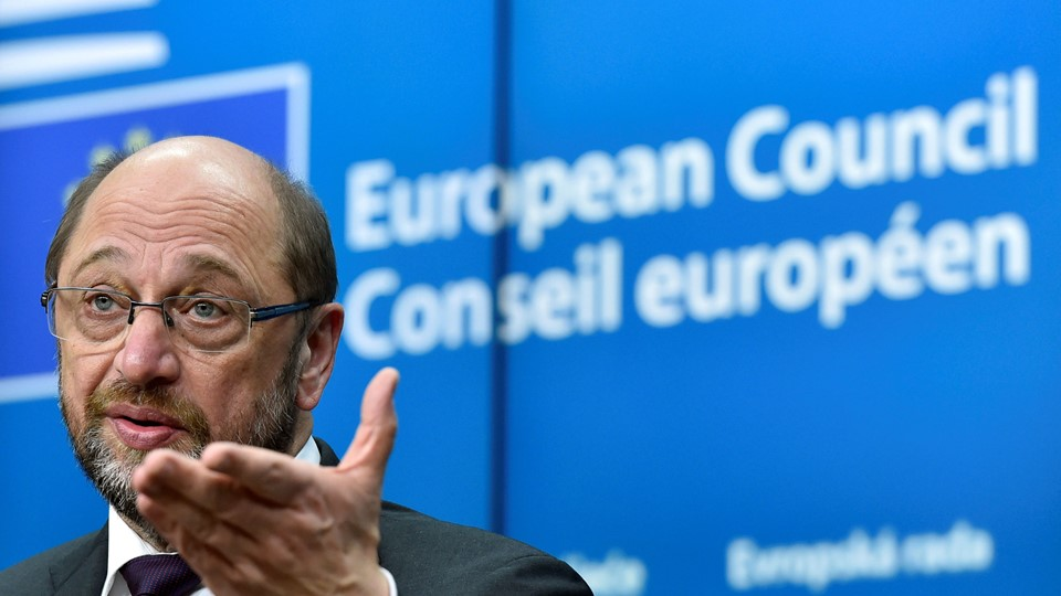 EP President Schulz holds a news conference during a EU Summit in Brussels Foto: Reuters/Eric Vidal