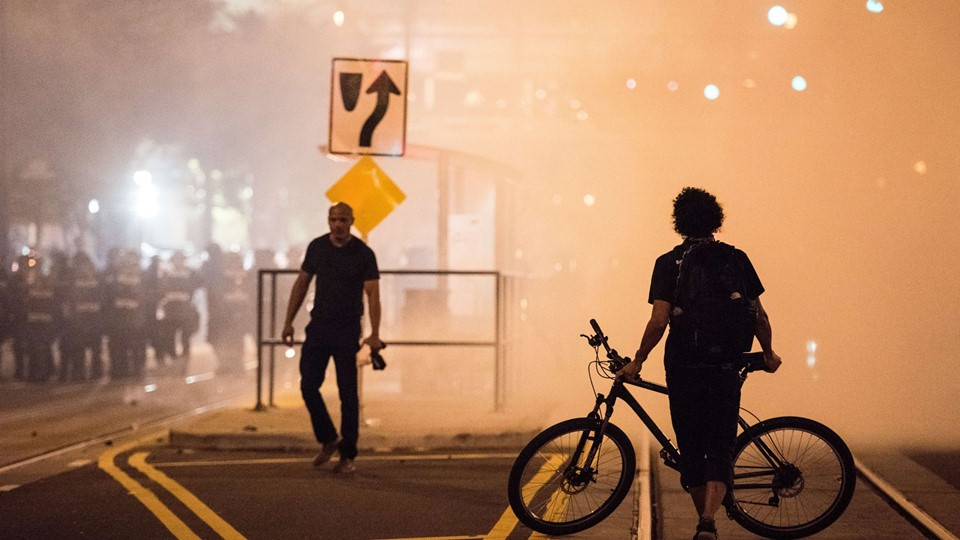 Protests Break Out In Charlotte After Police Shooting Foto: Scanpix/Sean Rayford