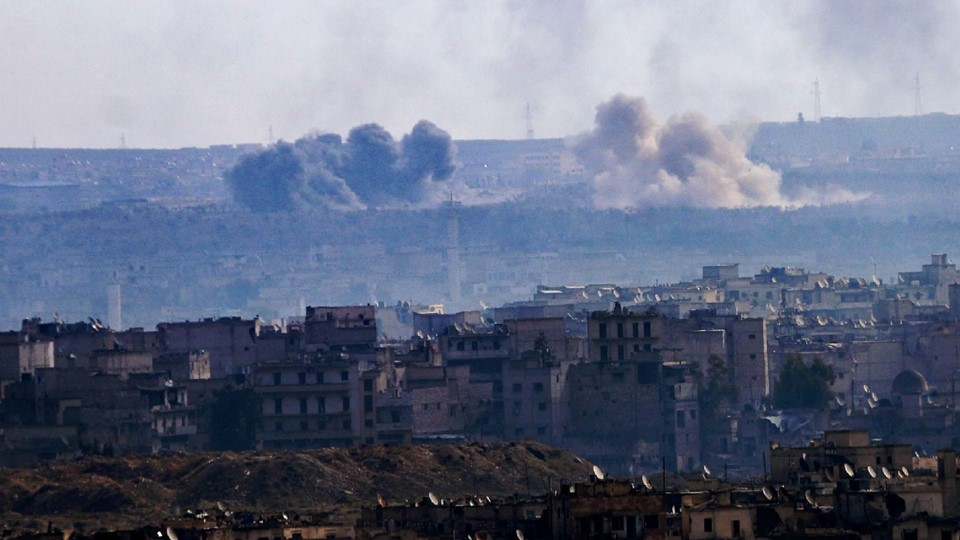 SYRIA-CONFLICT Foto: Scanpix/George Ourfalian