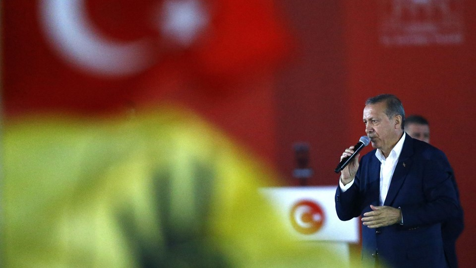 Turkish President Erdogan speaks during Democracy and Martyrs Rally in Istanbul Foto: Reuters/Osman Orsal