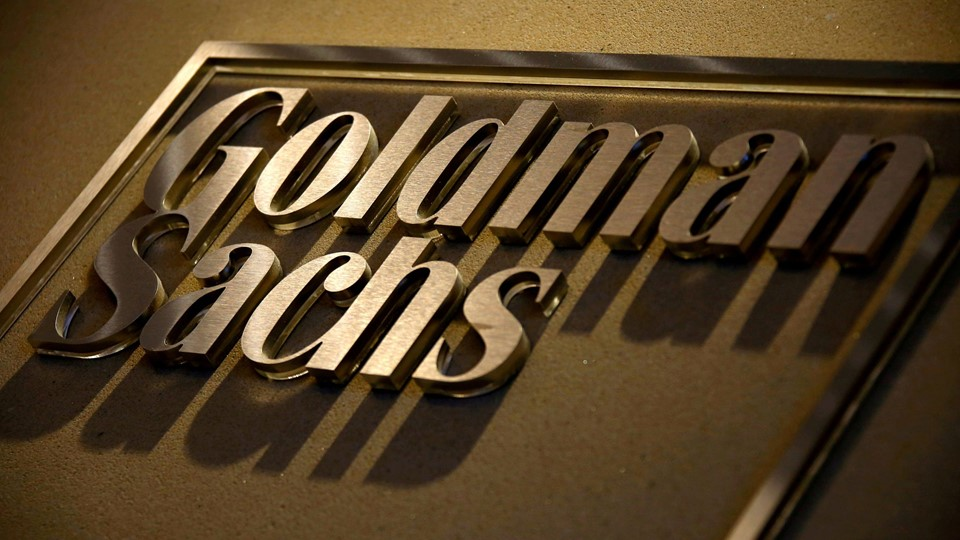A sign is displayed in the reception of Goldman Sachs in Sydney Foto: Reuters/David Gray