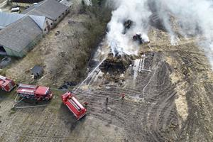 Stor halmbrand ved Aabybro