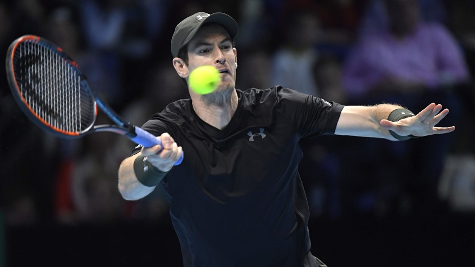 Great Britain's Andy Murray in action his semi final match against Canada's Milos Raonic Foto: Reuters/Toby Melville