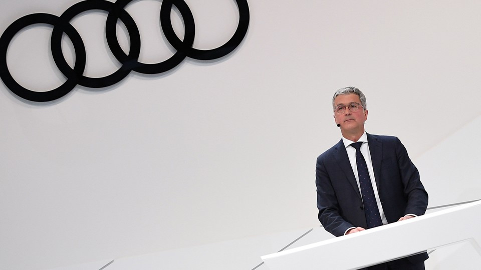 FILE PHOTO: Audi CEO Rupert Stadler gives a speech at the company''s annual news conference in Ingolstadt Foto: Reuters/Lukas Barth