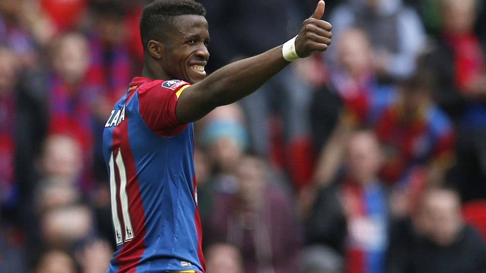 "Football Soccer - Crystal Palace v Watford - FA Cup Semi Final - Wembley Stadium - 24/4/16 Crystal Palace's Wilfried Zaha gestures Action Images via Reuters / Andrew Couldridge Livepic EDITORIAL USE ONLY.No use with unauthorized audio, video, data, fixture lists, club/league logos or ""live"" services. Online in-match use limited to 45 images, no video emulation.No use in betting, games or single club/league/player publications. Please contact your account representative for further details."