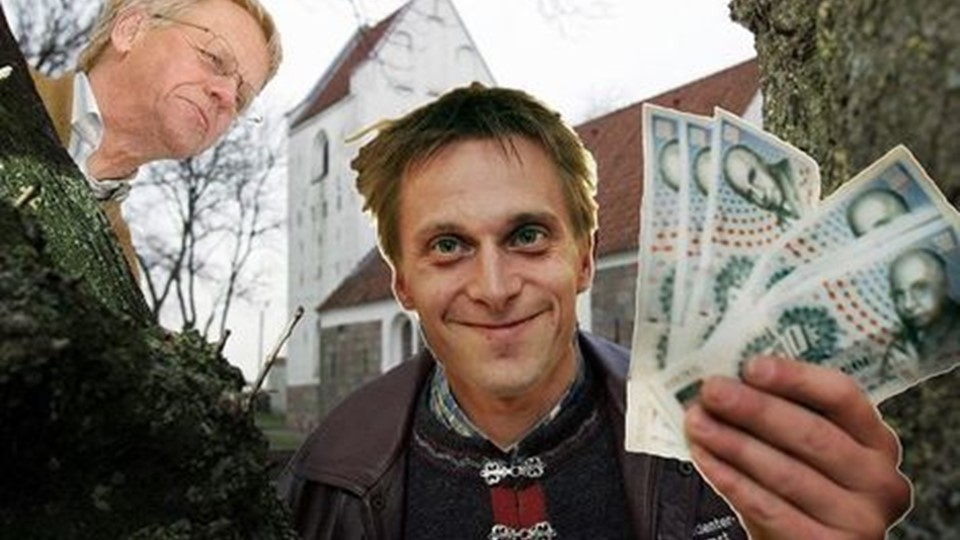 money makes the world go around. Collage: Ole Sanvig Knudsen