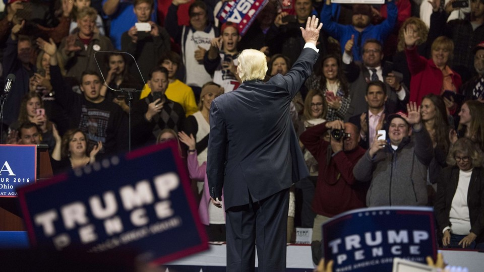 President-Elect Donald Trump And Vice President Elect Pence Hold Election Victory Rally In Ohio Foto: Scanpix/Ty Wright