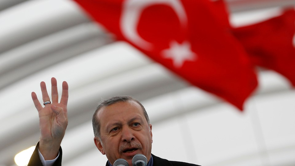 Turkish President Erdogan makes a speech during the opening ceremony of Eurasia Tunnel in Istanbul Foto: Reuters/Murad Sezer