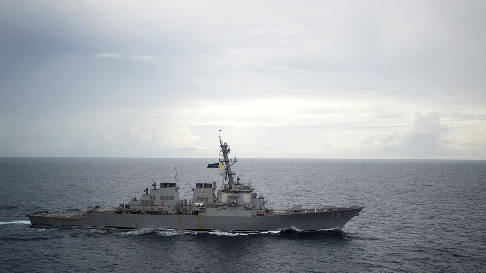 Guided-missile destroyer USS Decatur operates in the South China Sea Foto: Reuters/Handout