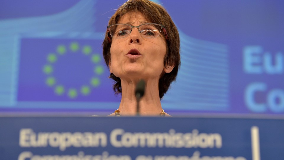 EU Commissioner for Employment, Social Affairs, Skills and Labour Mobility Thyssen talks during a news conference after a meeting in Brussels Foto: Reuters/Eric Vidal
