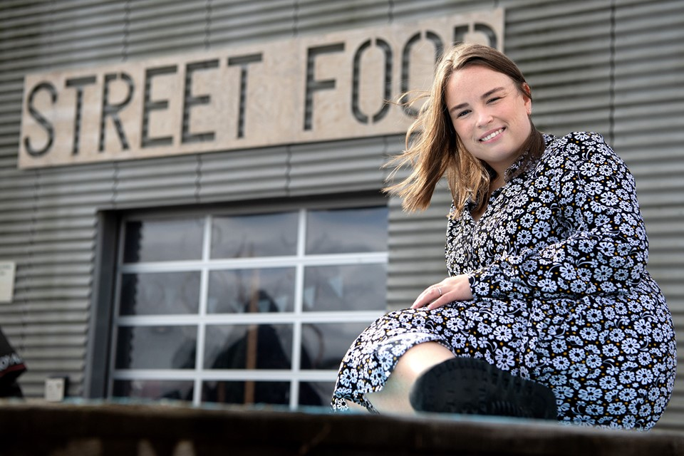 Mia Jespersen kommer til at have base hos Aalborg Street Food - The Lighthouse under indsamlingen i morgen 8. september 2019. Foto: Henrik Bo