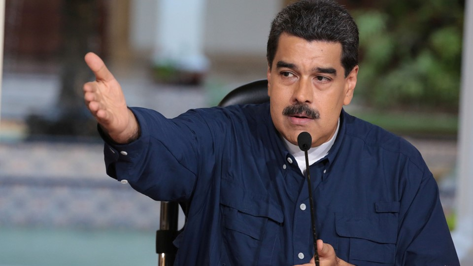Venezuela''s President Nicolas Maduro speaks during a meeting at Miraflores Palace in Caracas Foto: Reuters/Handout