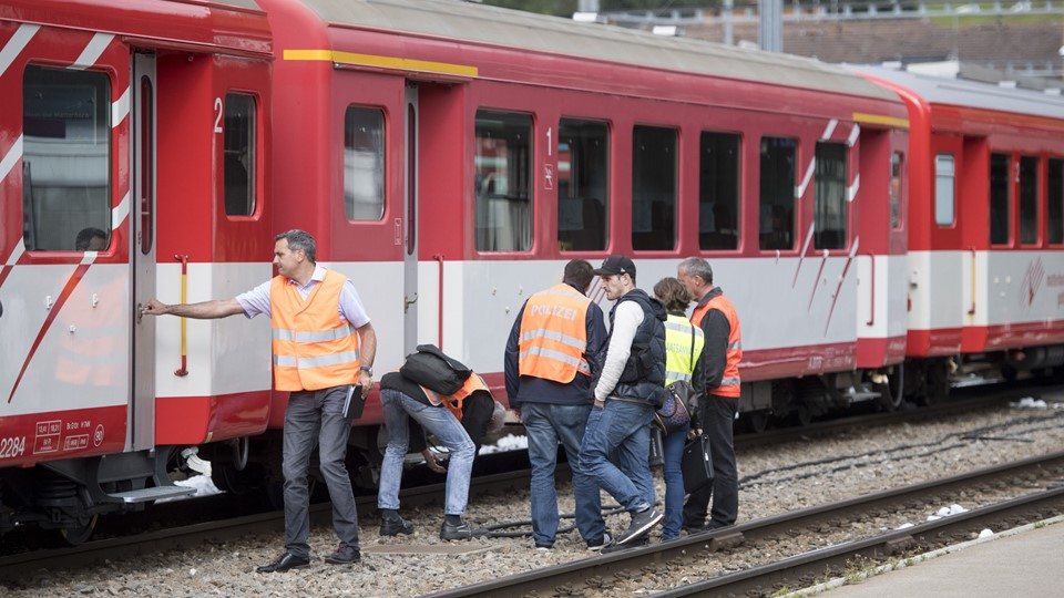 Switzerland Train Crash Foto: /ritzau/AP/Urs Flueeler