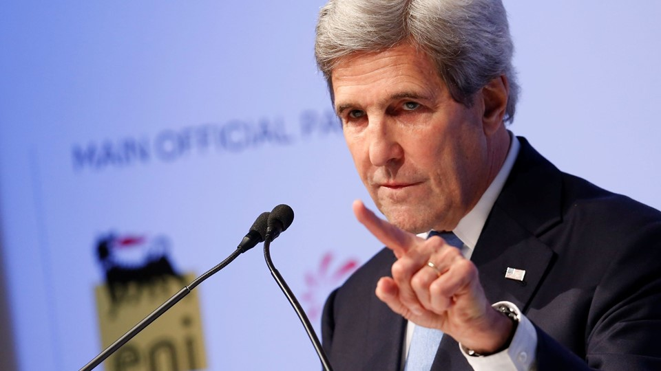 U.S. Secretary of State John Kerry talks during the Rome MED Mediterranean Dialogues forum in Rome Foto: Reuters/Remo Casilli