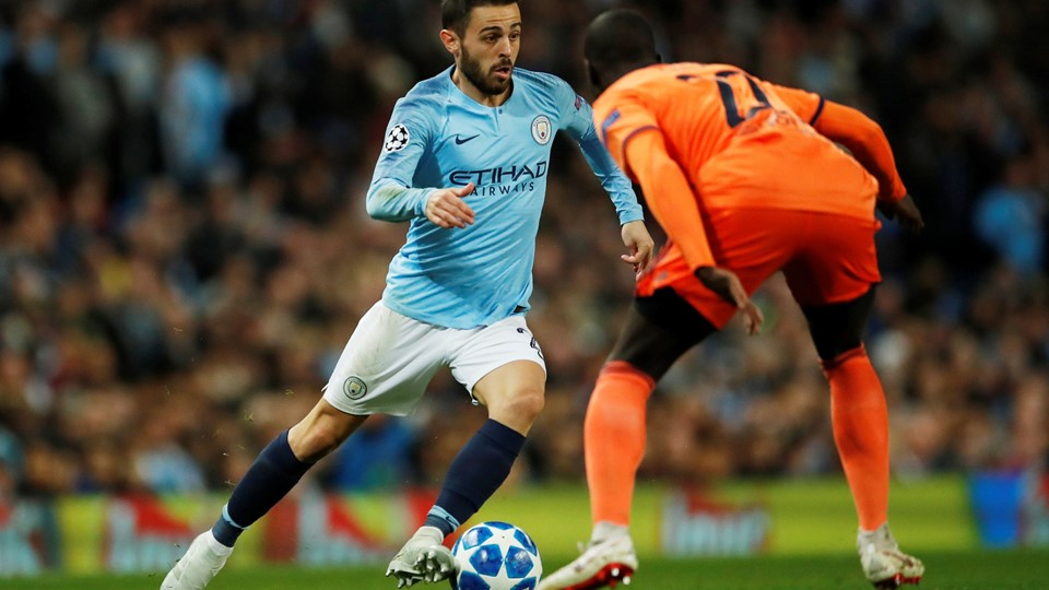 Bernardo Silva scorede for Manchester City mod Lyon, men det rakte ikke til point. Foto: Andrew Boyers/Reuters